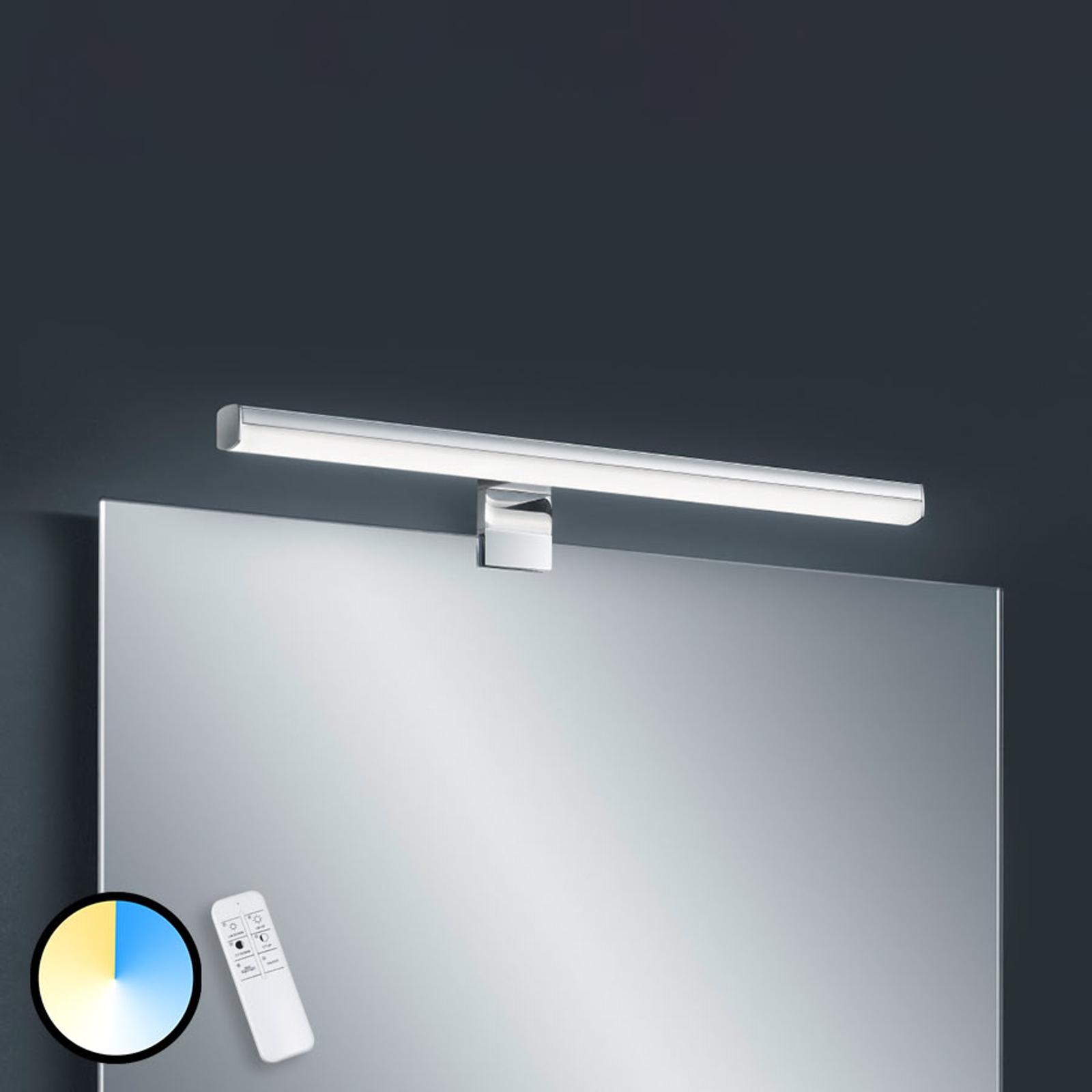 Applique LED Gaia, 49cm, télécommande