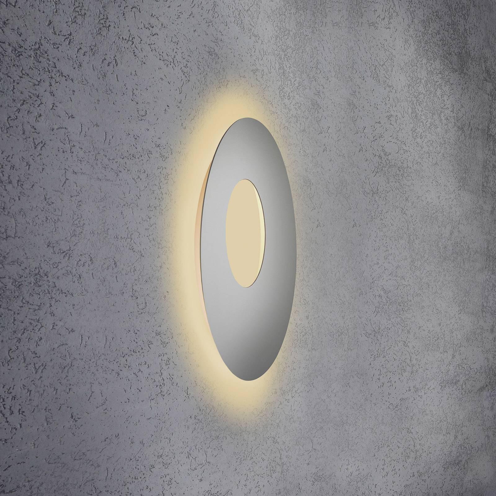 Escale Blade Open applique LED, argentée, Ø 59cm