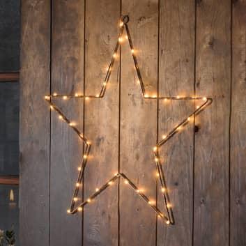 LED metalstjerne med timer