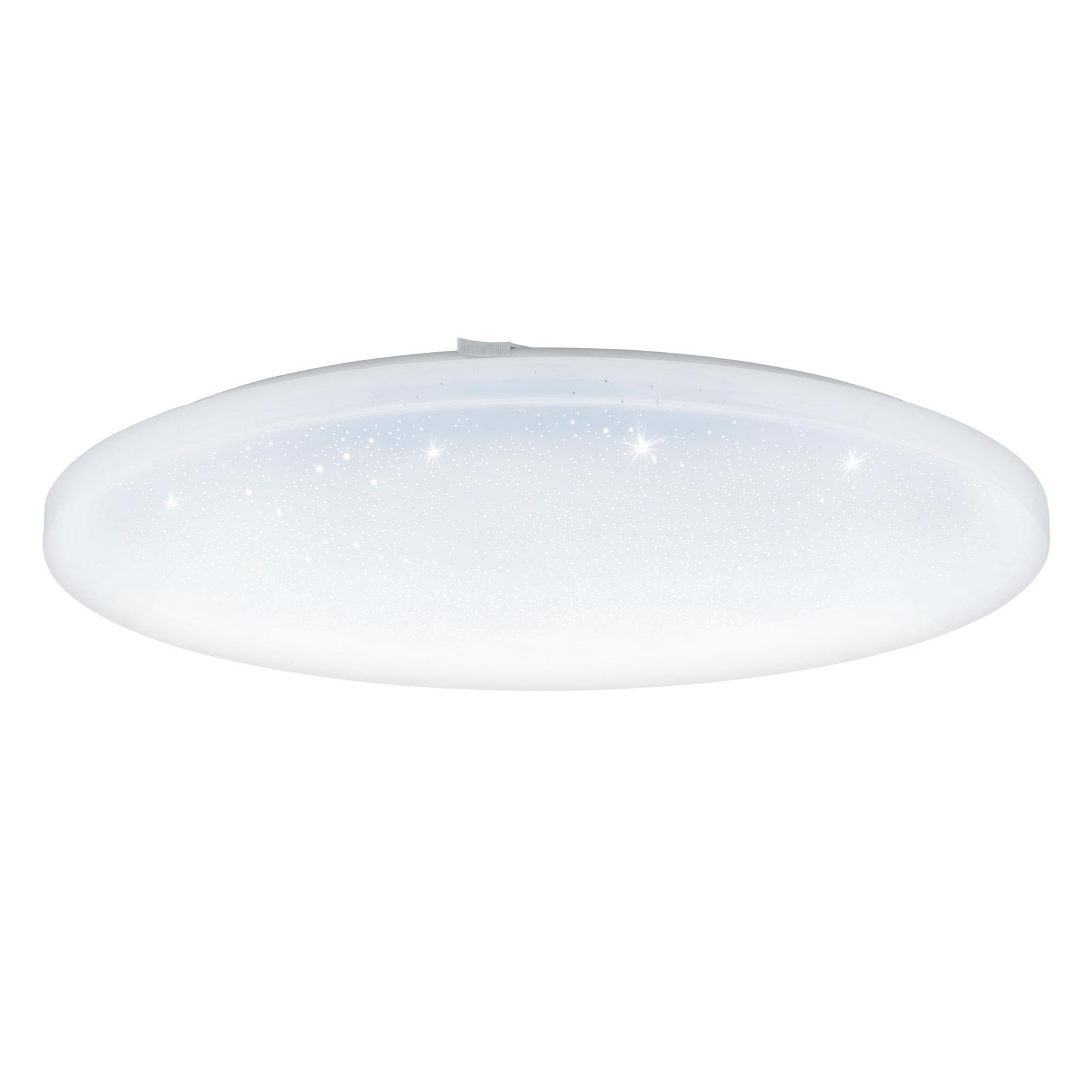 LED plafondlamp Frania met kristaleffect, rond
