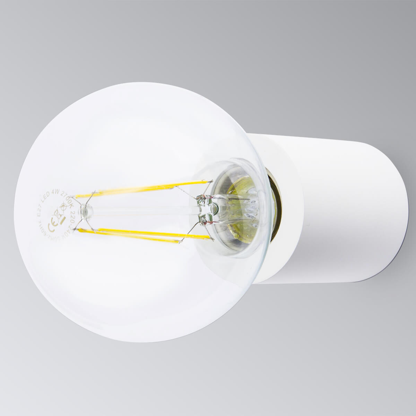 Ten - minimalistische wandlamp, wit