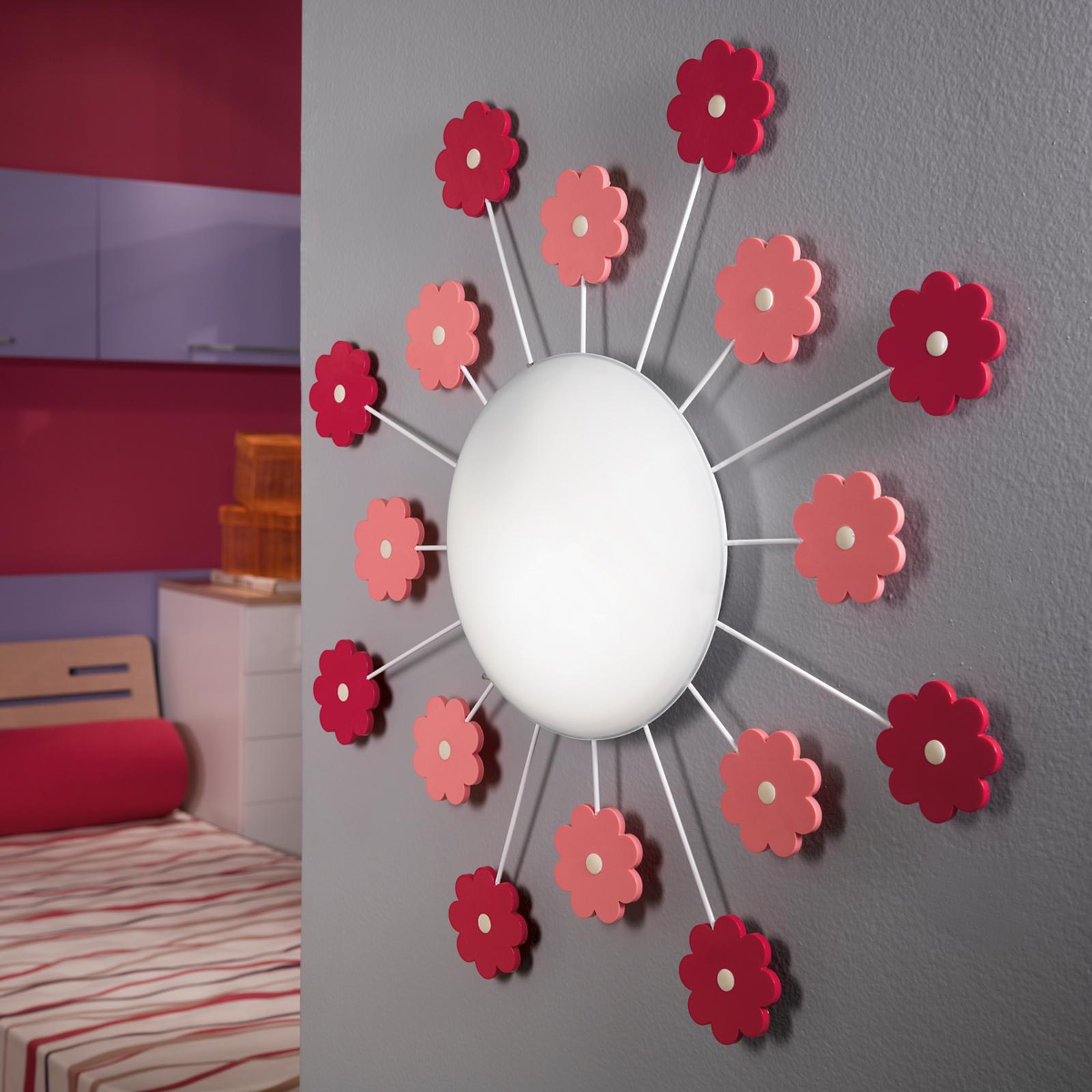 Vegglampe Viki 2, blomst