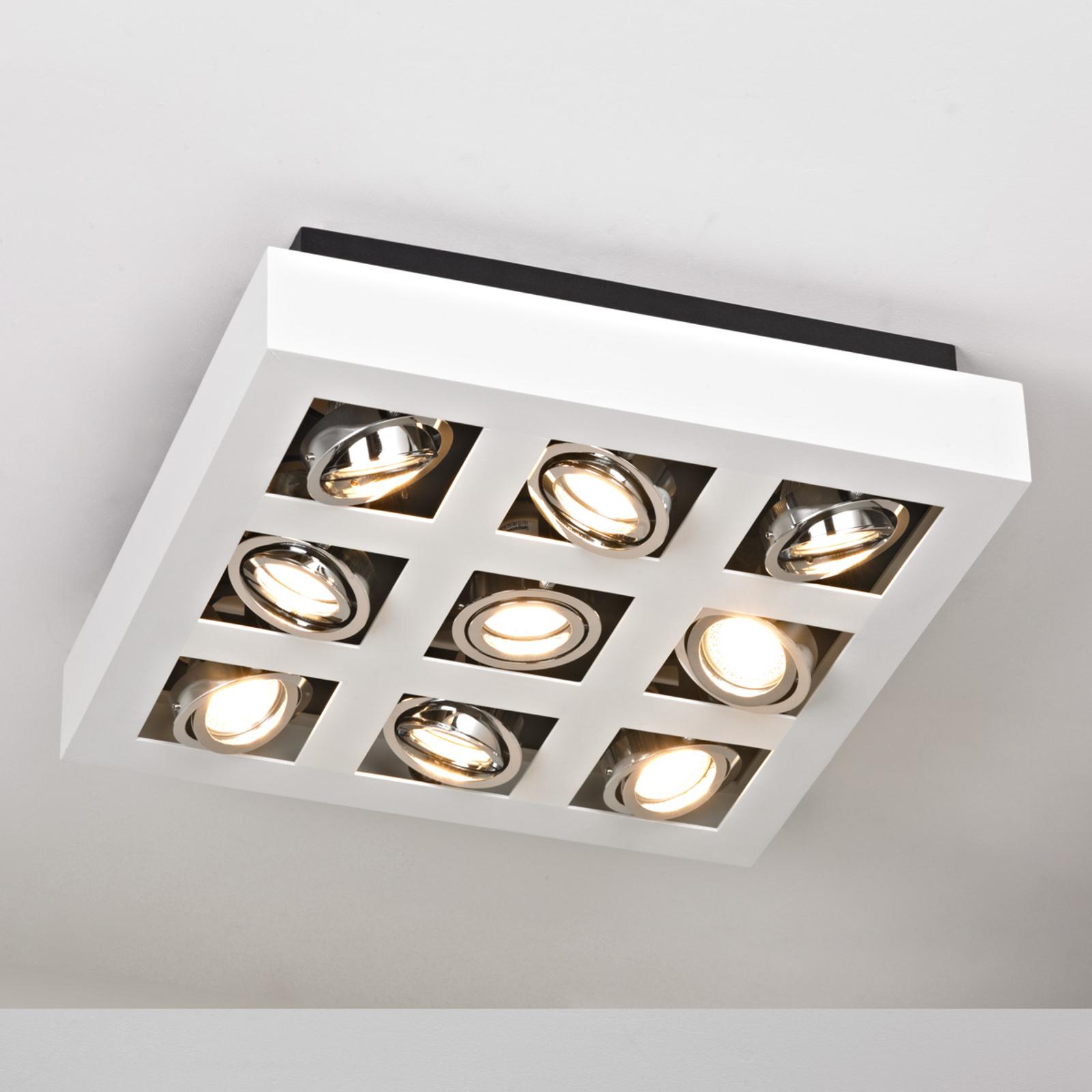 Plafonnier LED Vince lumineux à 9 lampes