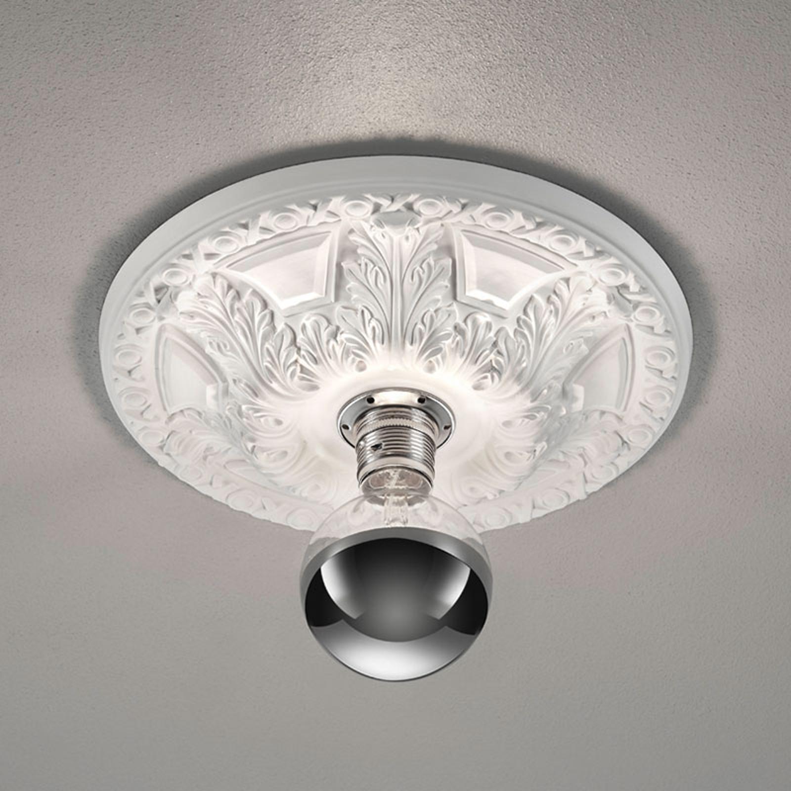 Plafondlamp Lilly, gips, stucwerklook Ø 55,5 cm