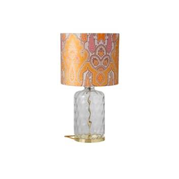 EBB & FLOW Pillar bordslampa, Brocade gul/rosa