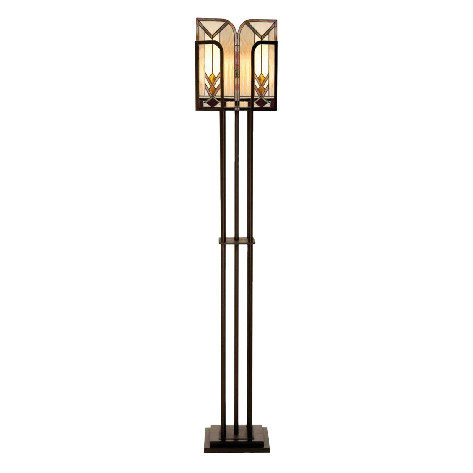 Madison standerlampe udformet i Tiffany-stil