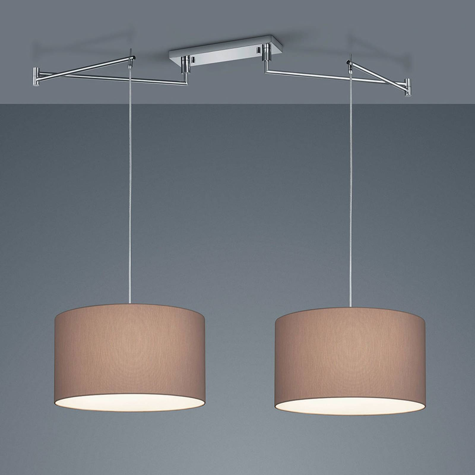 Helestra Certo hanglamp cilinder 2-lamps mocca