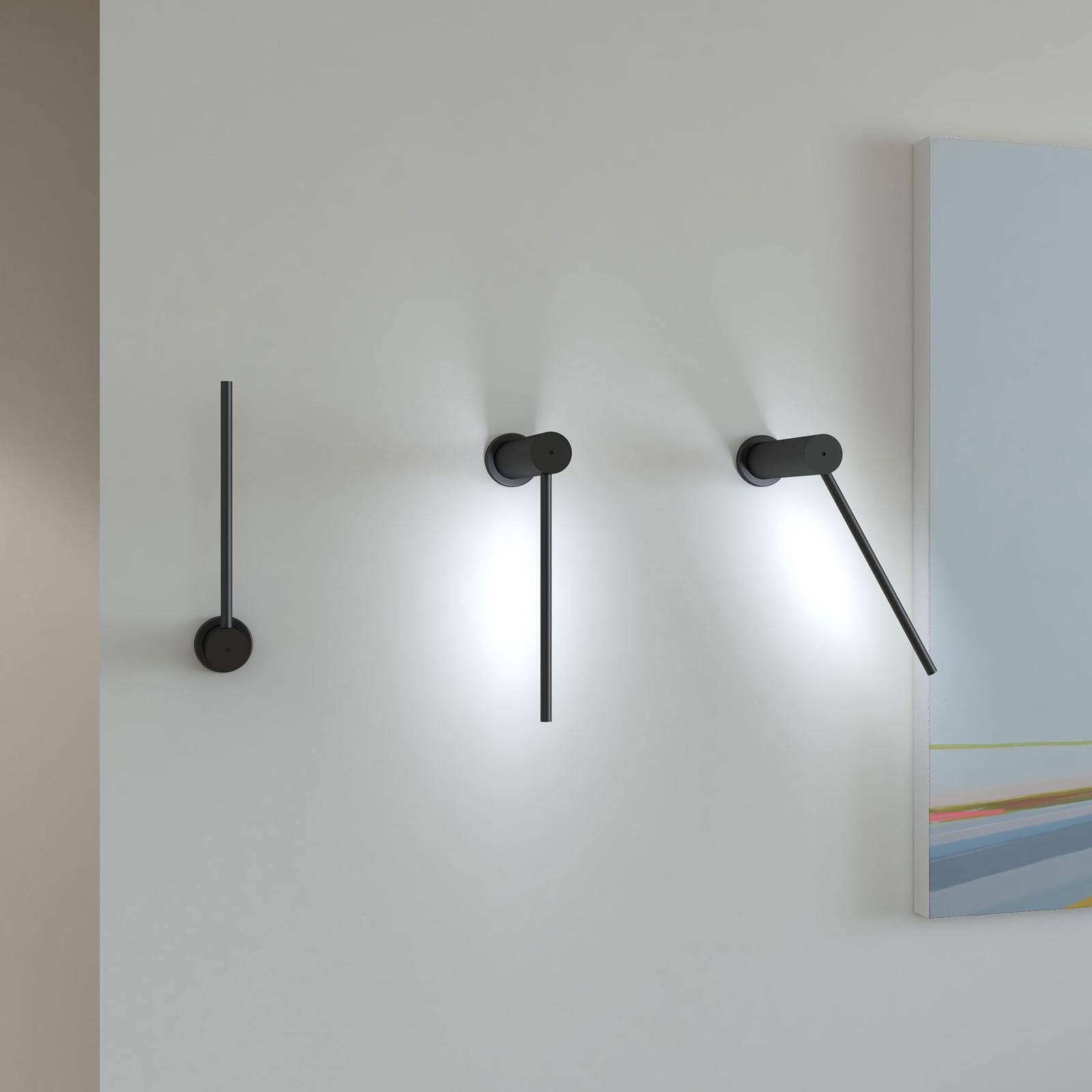 Martinelli Luce Mosca LED-Wandleuchte 20cm schwarz