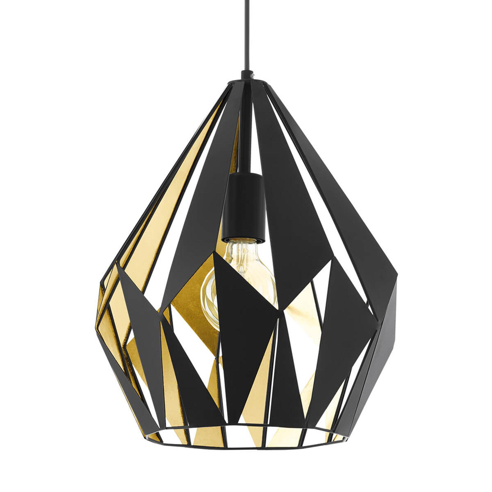 Original lámpara colgante Carlton en negro