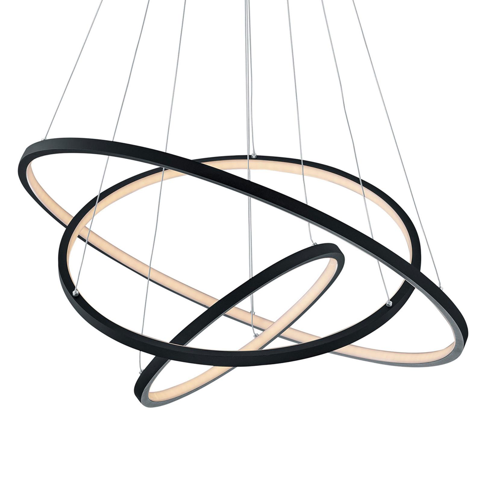 Trio WiZ Aaron lampa wisząca LED, antracyt