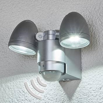 Todora udendørs LED-spot med sensor og 2 lyskilder