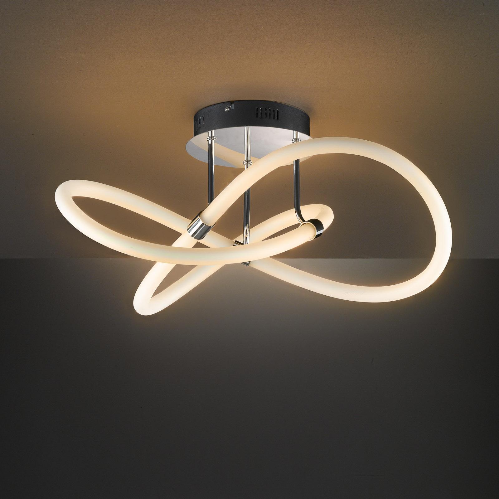 LED-taklampa Mira med fjärrkontroll Ø 57,5 cm