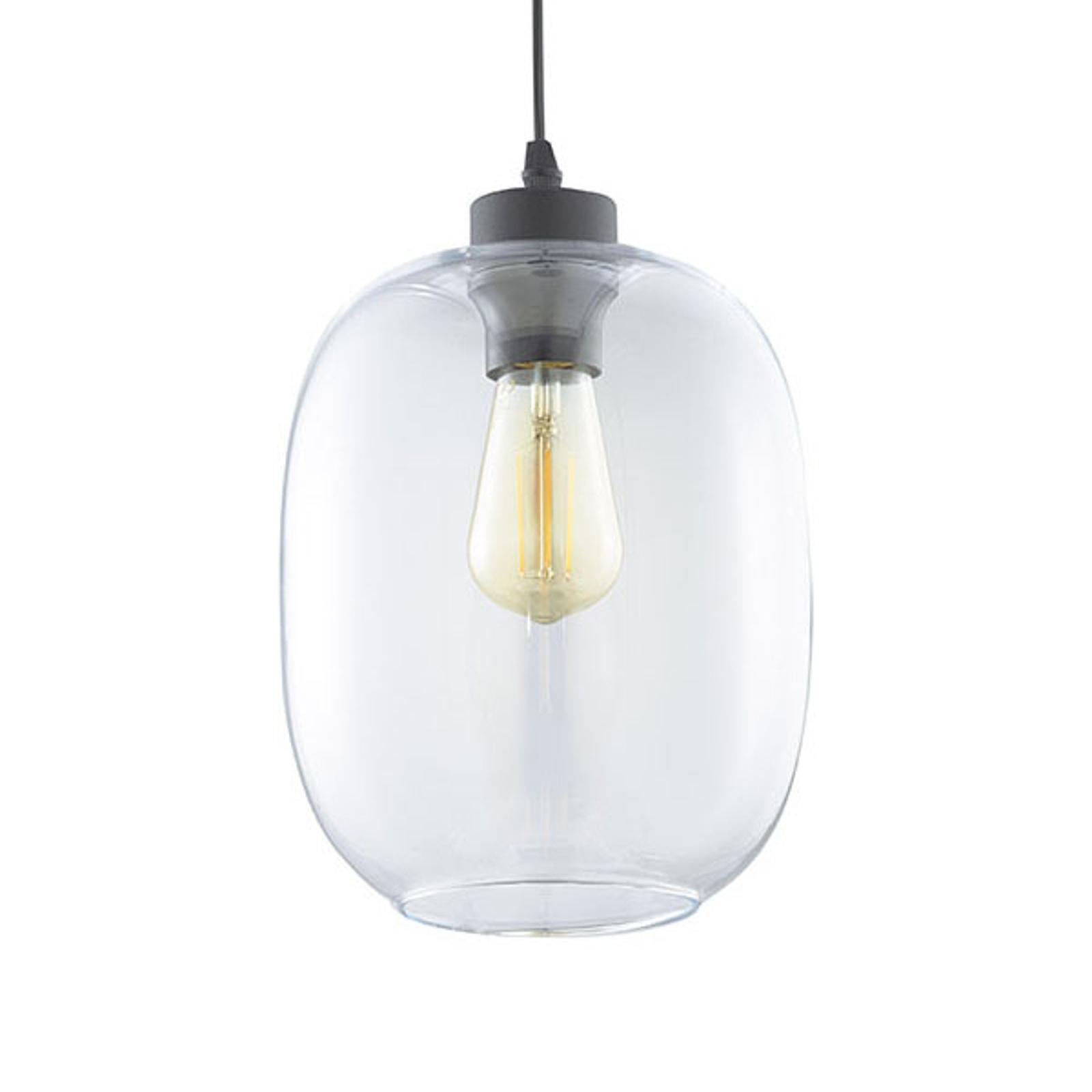 Lampa wisząca Elio, 1-punktowa, przezroczysta