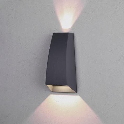 LED-Außenwandlampe Jackson, dunkelgrau