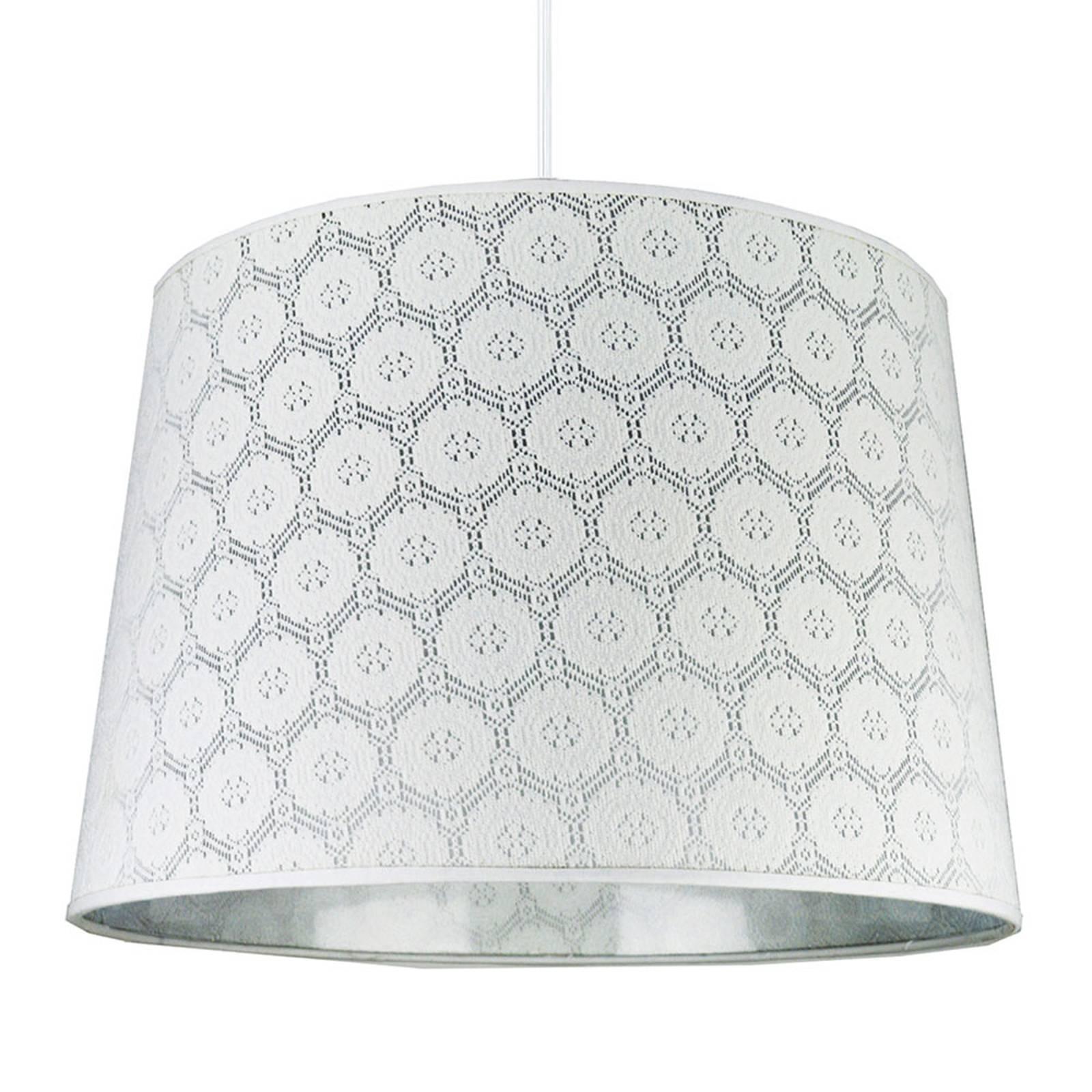 Lampa wisząca Rustica z białym wzorem koronki