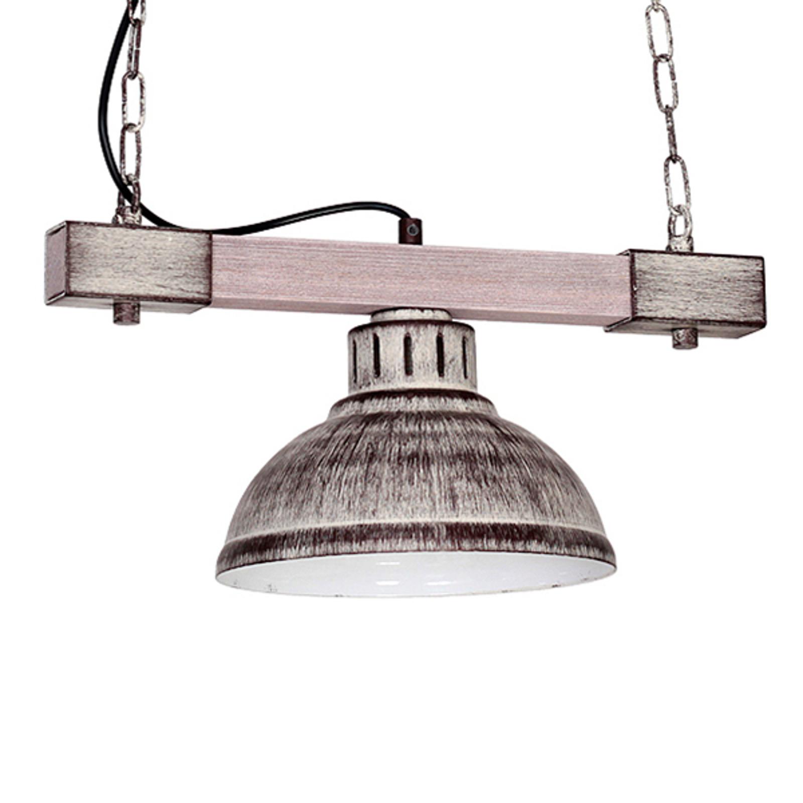 Lampa wisząca Hakon 1-pkt. żelazo/jasne drewno