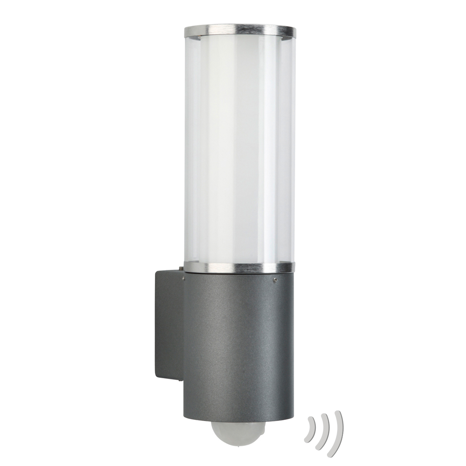 Buitenwandlamp Elettra met bewegingssensor