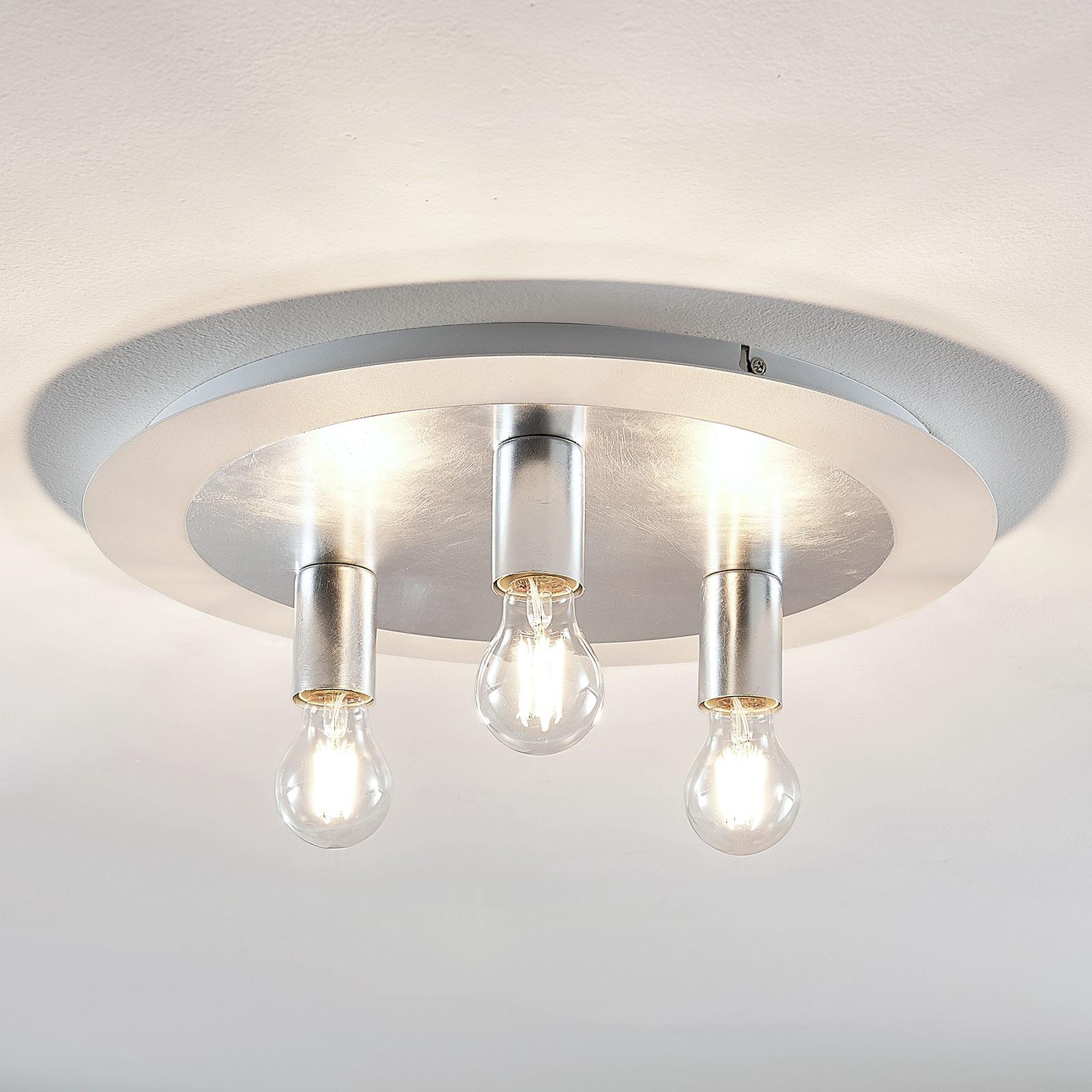 Metalowa lampa sufitowa Justik, 3-punktowa, biała