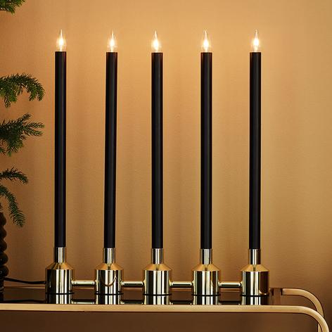 Chandelier Philippa à 5 lampes noir/doré