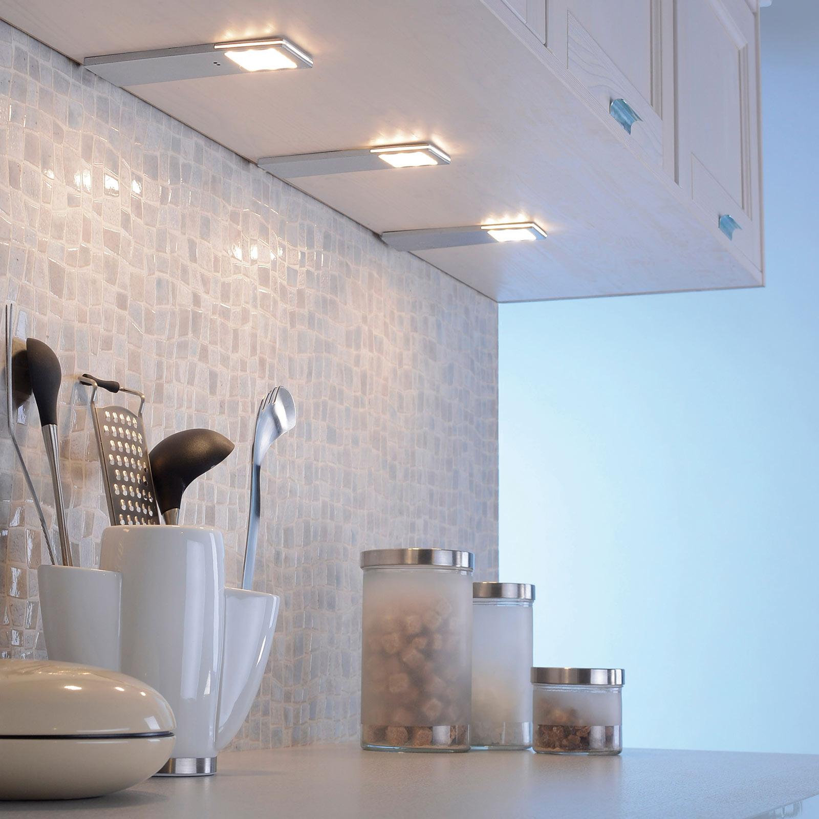 LED-sensor onderbouwlamp Helena 6,6 cm Set per 3