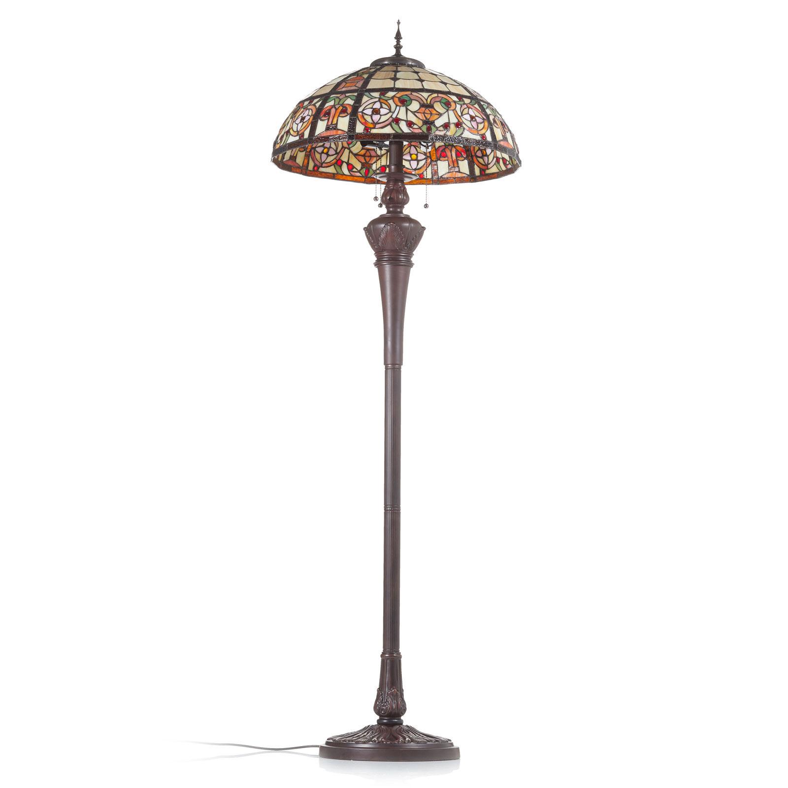 Luksusowa lampa stojąca Lindsay w stylu Tiffany