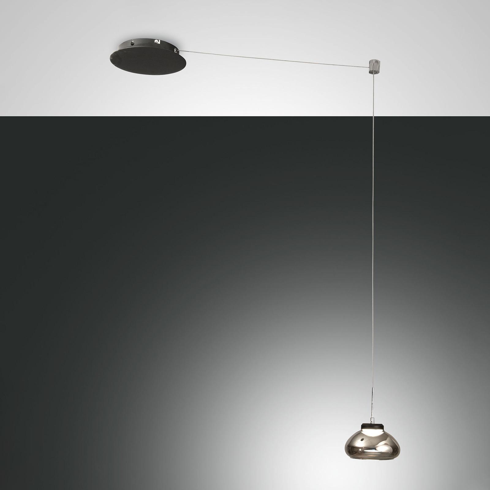 Lampa wisząca Arabella decentralna 1-pkt szary dym