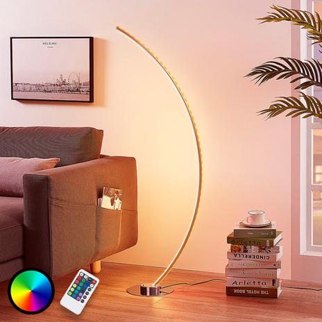 Lampa stojąca LED RGB Amaro, kształt C