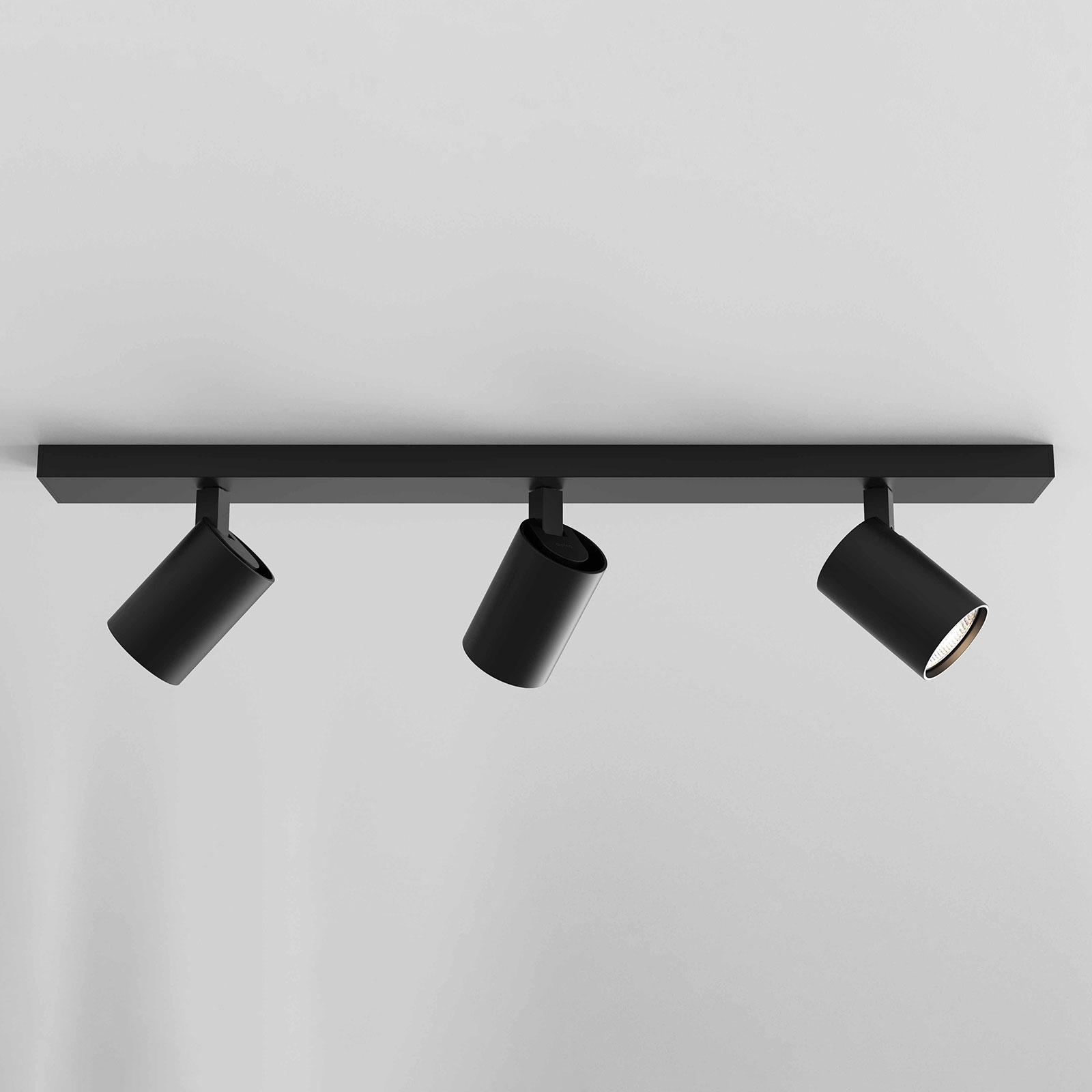 Astro Ascoli Triple Bar spotlight, svart matt