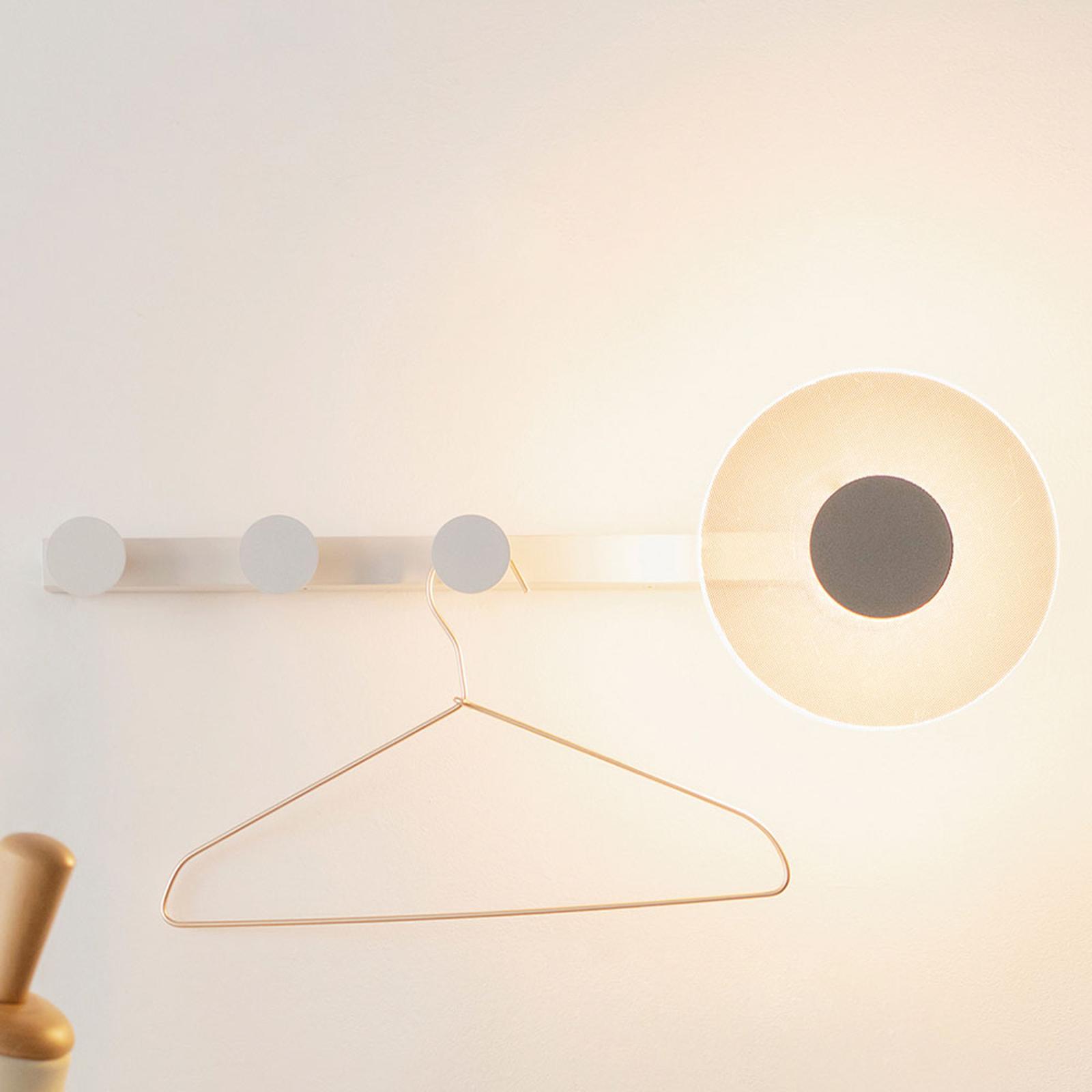 LED-Wandleuchte Venus mit Kleiderhaken, weiß