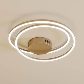 Lindby Davian plafoniera LED dimmerabile, nichel