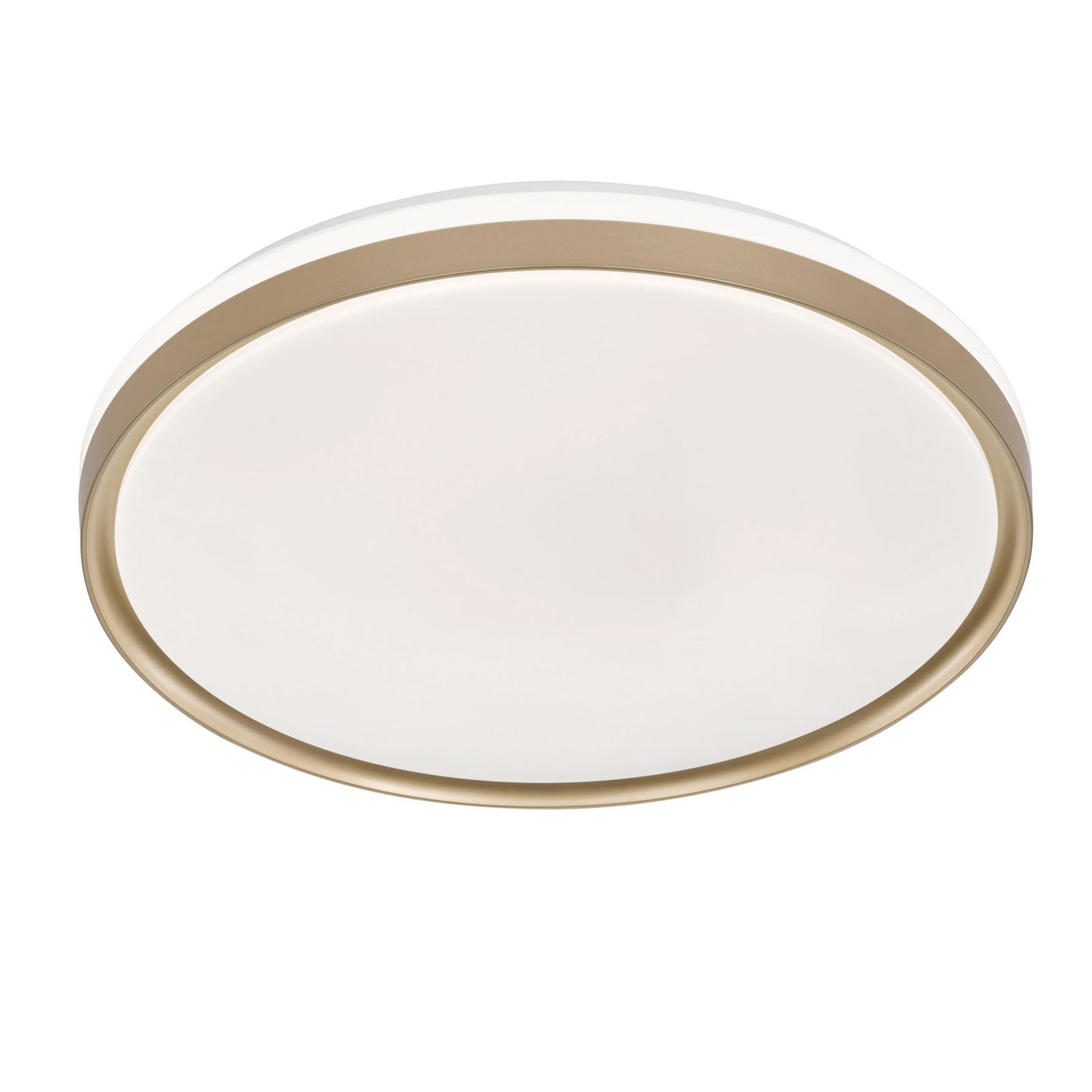 Plafonnier LED Jaso BS, Ø 49cm, doré