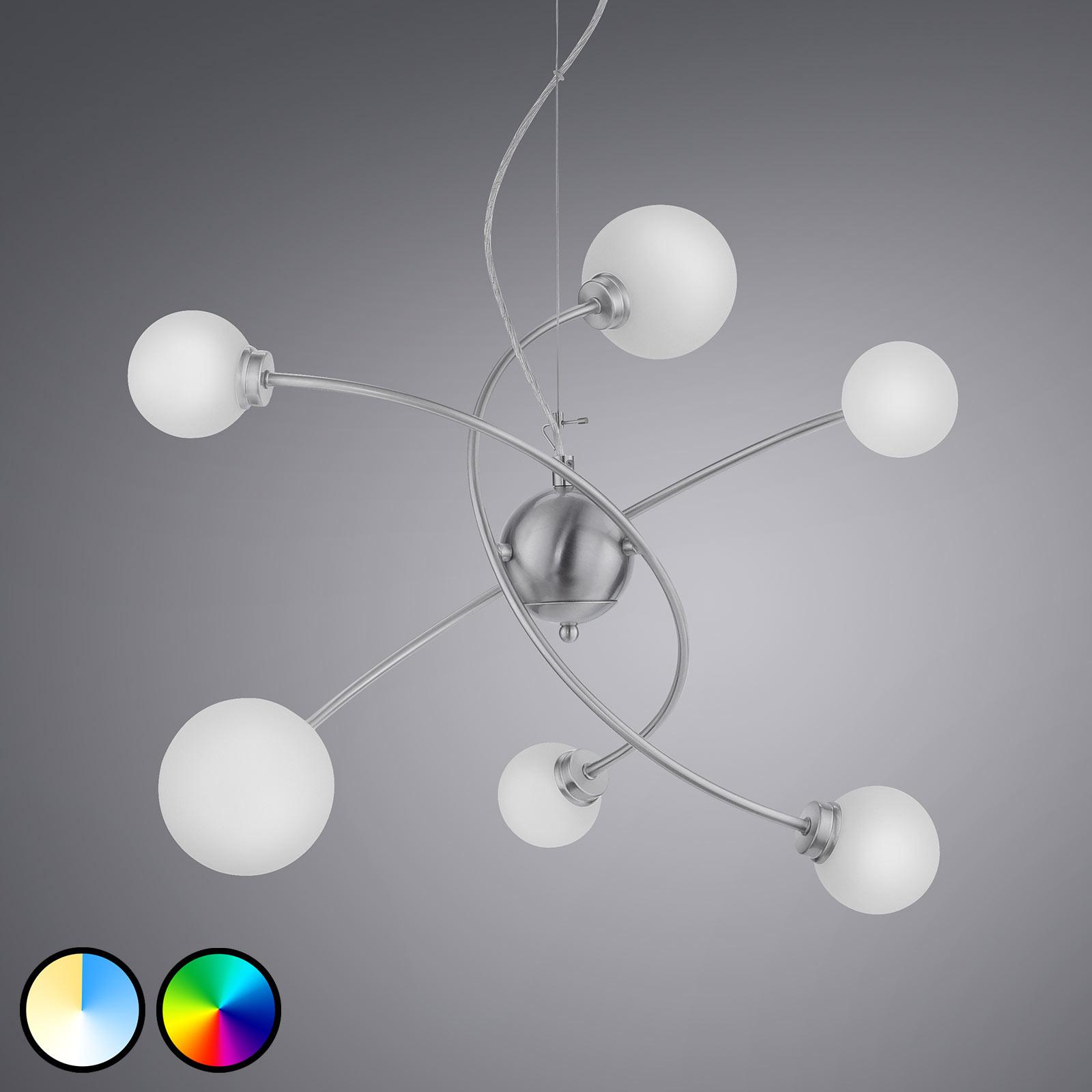 Trio WiZ Dicapo lampa wisząca LED, 6-punktowa