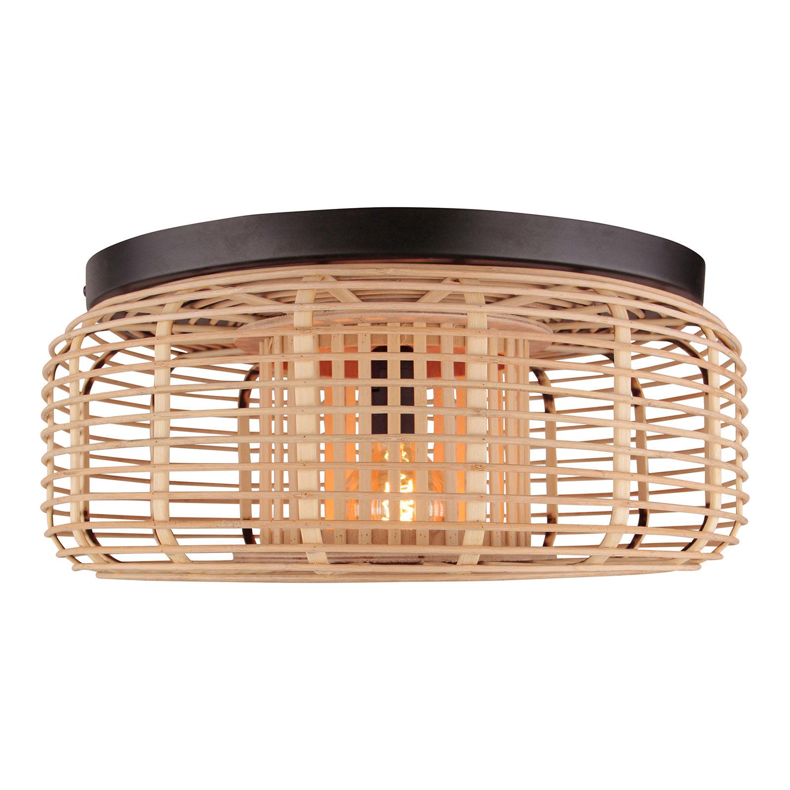 Crosstown loftlampe, lukket bambusskærm
