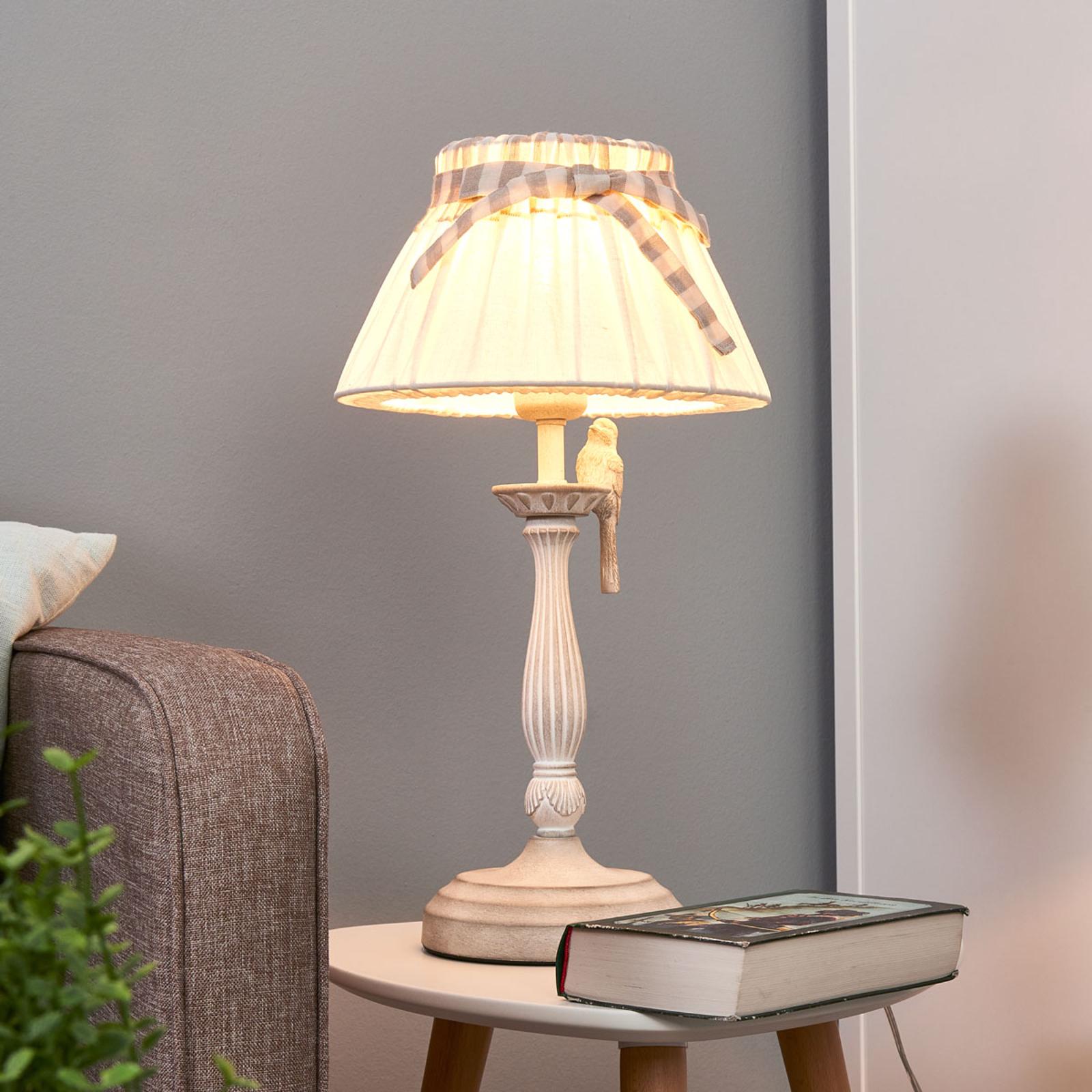 Bird - lampada da tavolo con uccello decorativo