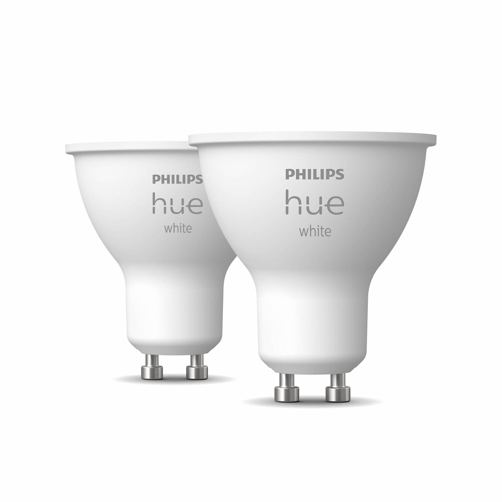 Philips Hue White 5,2W GU10 ampoule LED, lot de 2