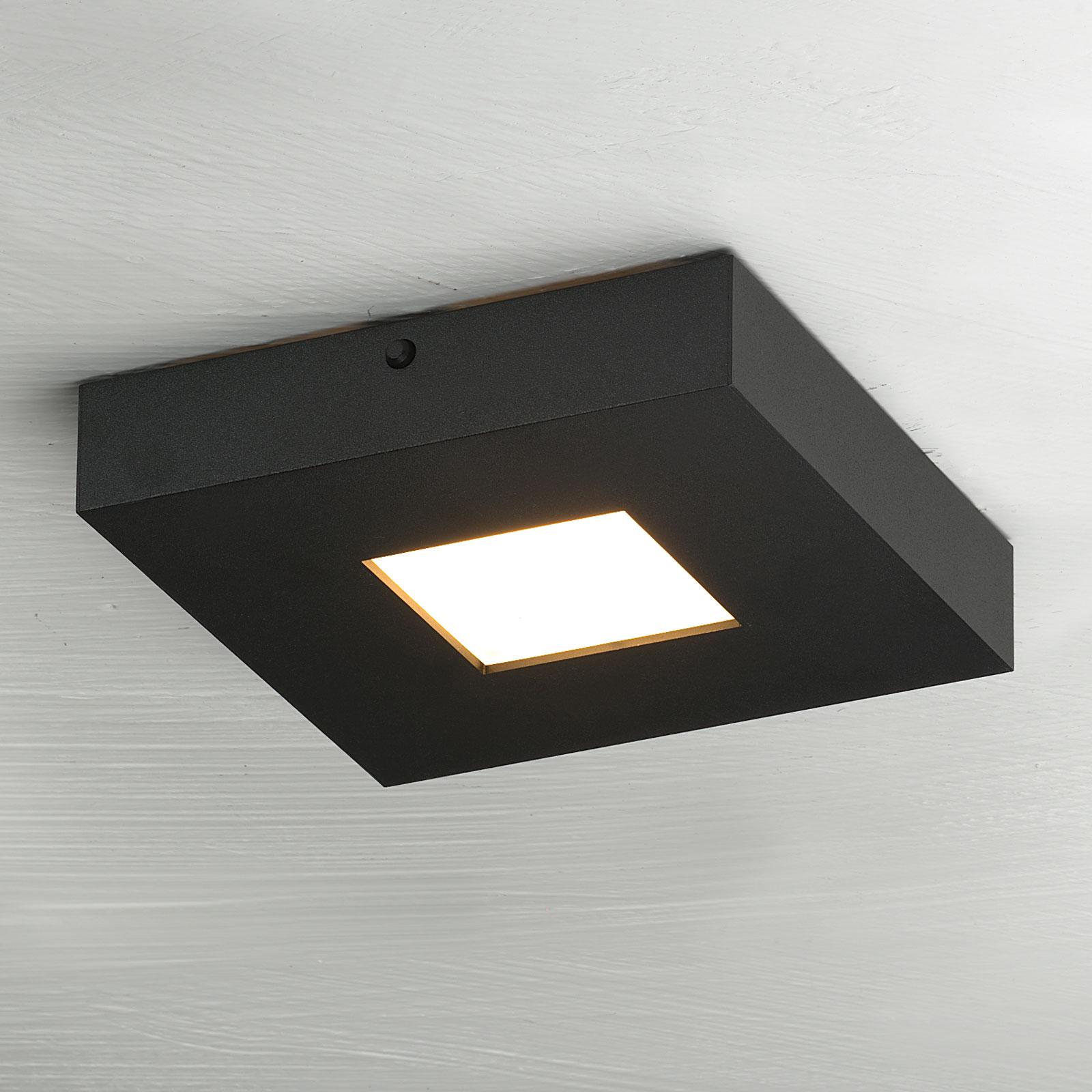 LED-plafondlamp Cubus in zwart