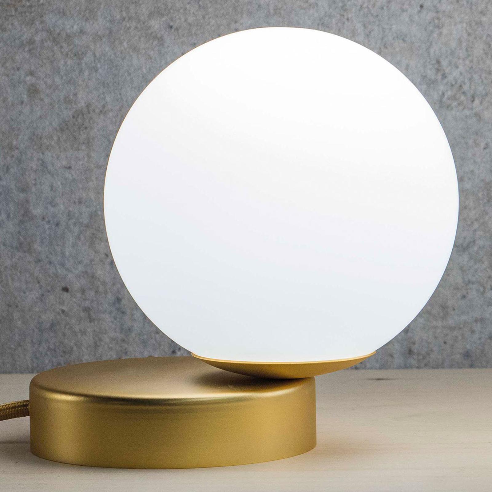 Tafellamp Lumi rond goud gesatineerd