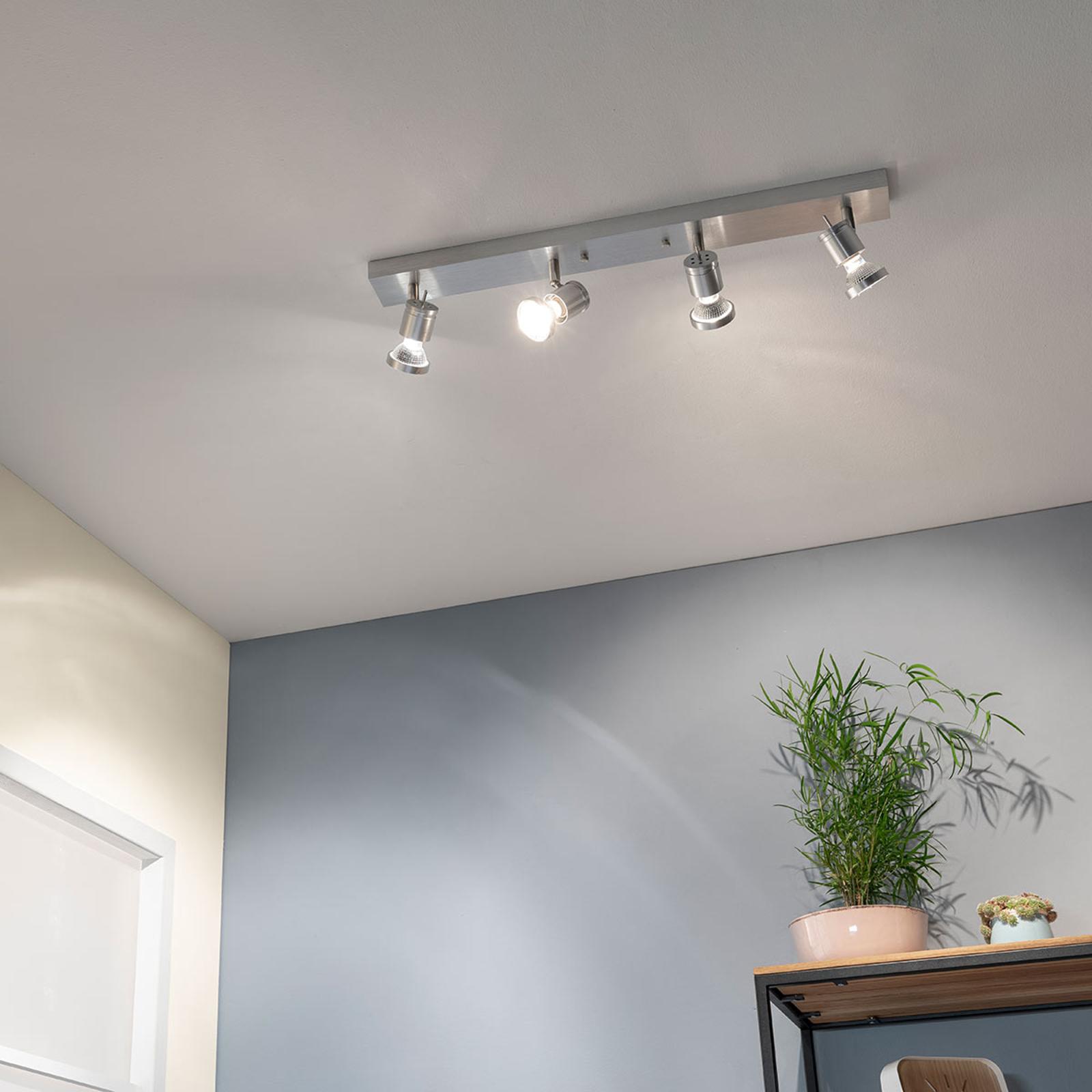 Plafonnier ASTO à 4 ampoules avec anneau décoratif