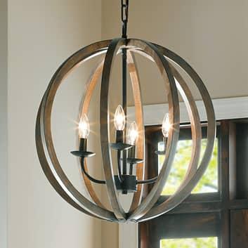 Pendellampa Allier i trä med 4 lampor, 52,1 cm