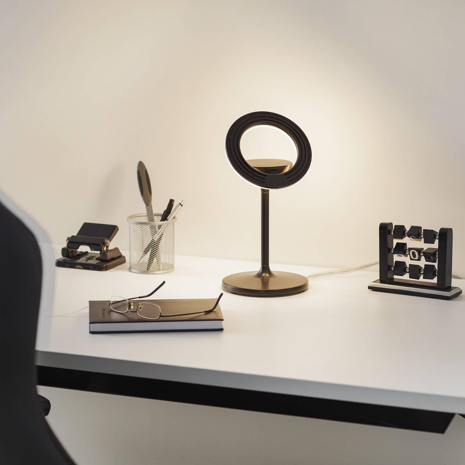 LED tafellamp Filigree, draai-/zwenkbaar, zwart