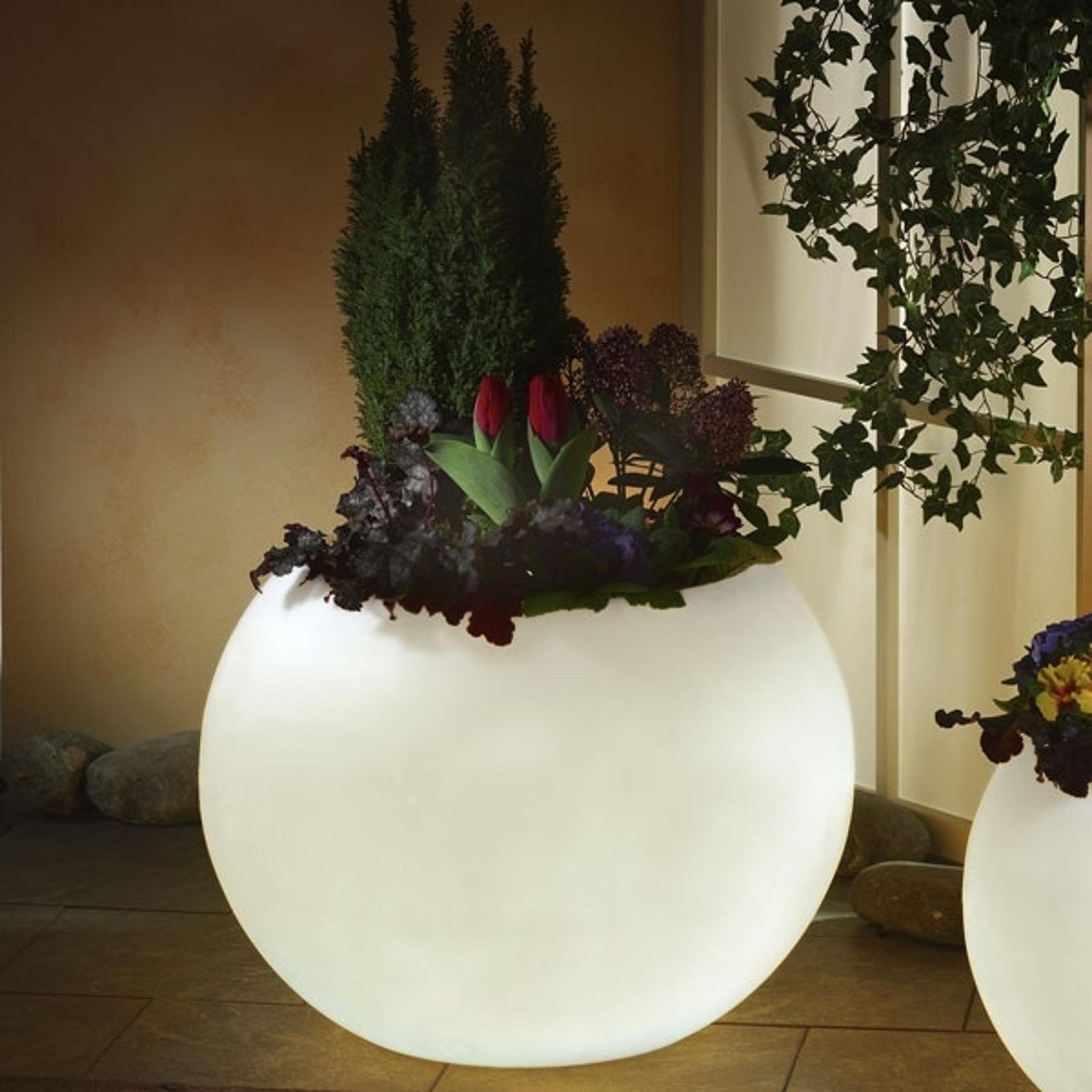 Lysende plantepotte i hvitt i topp kvalitet, 65