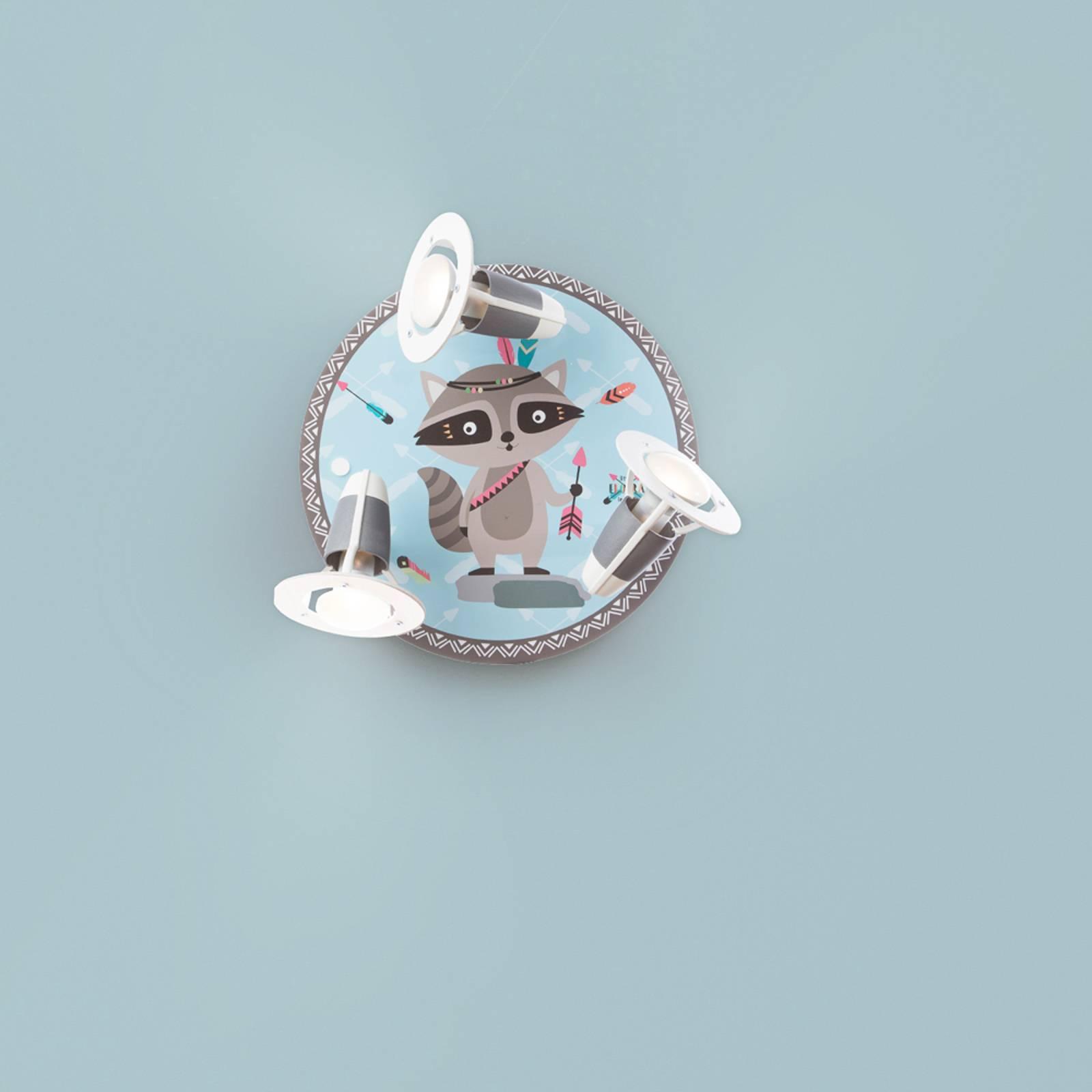 Lampa sufitowa Little Indians szop Oskar niebieska