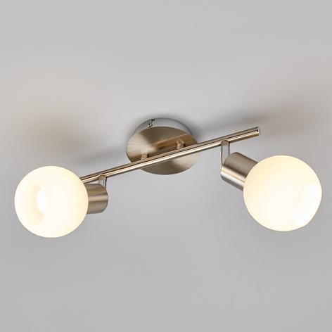 Elaina - à 2 lampes Plafonnier LED, nickel mat
