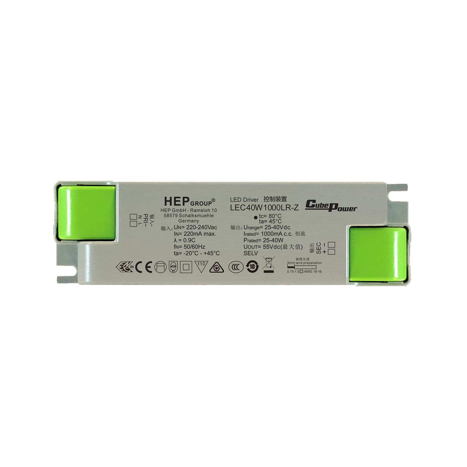 LED-driver LEC, 40 W, 1000 mA, CC