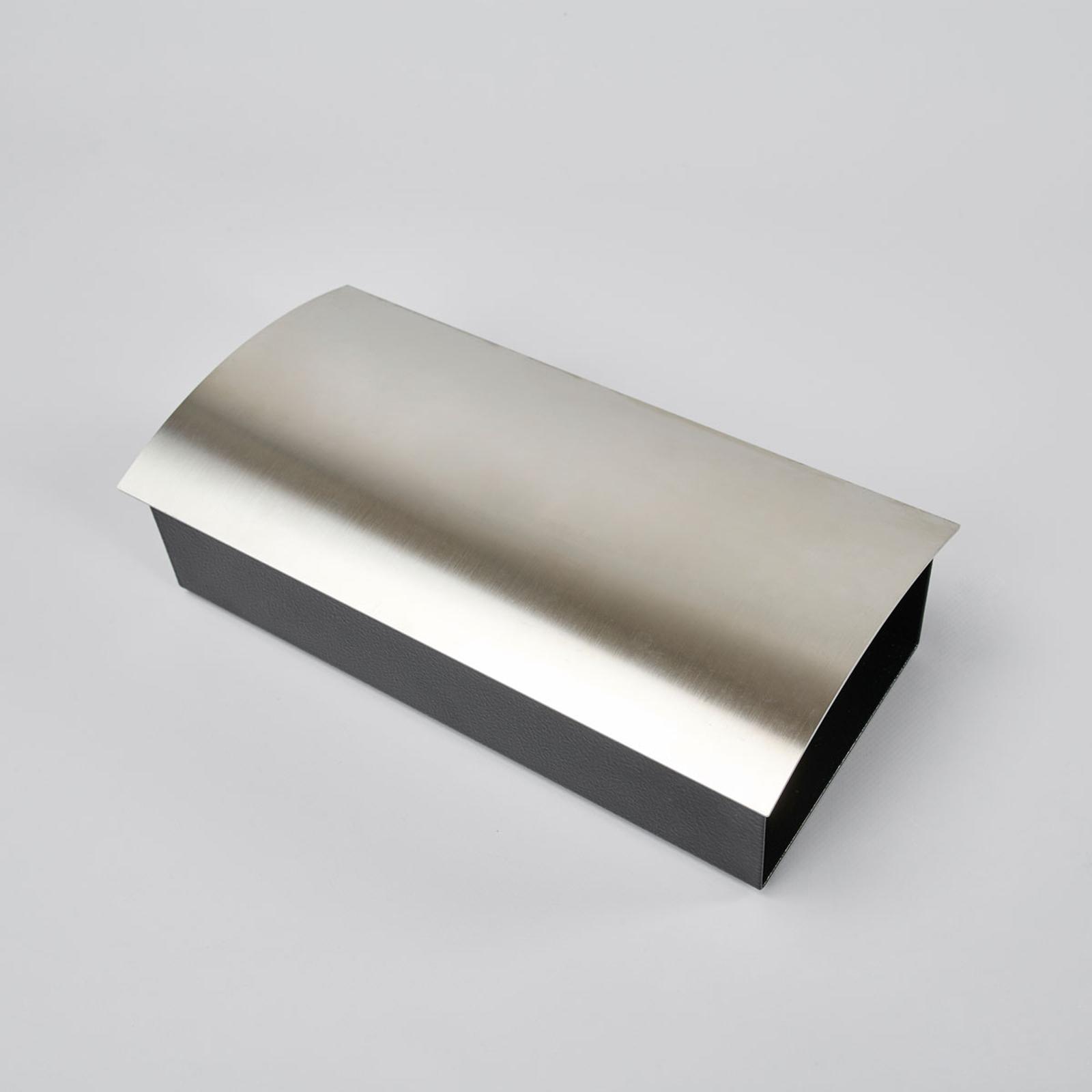 Eksklusivt Alani avisrør m ramme i rustfritt stål
