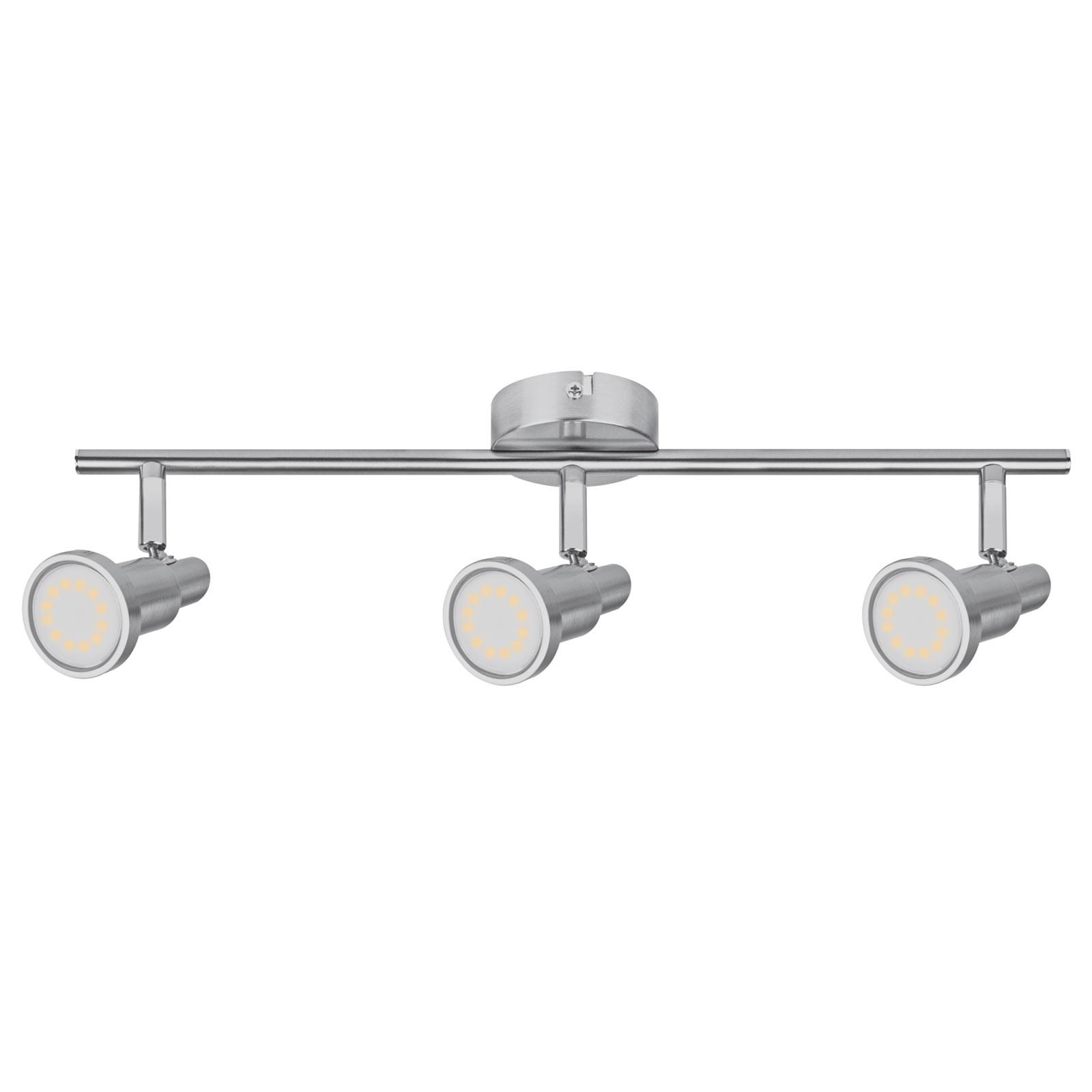 LEDVANCE Niclas LED spot, nikkel, 3-lamps