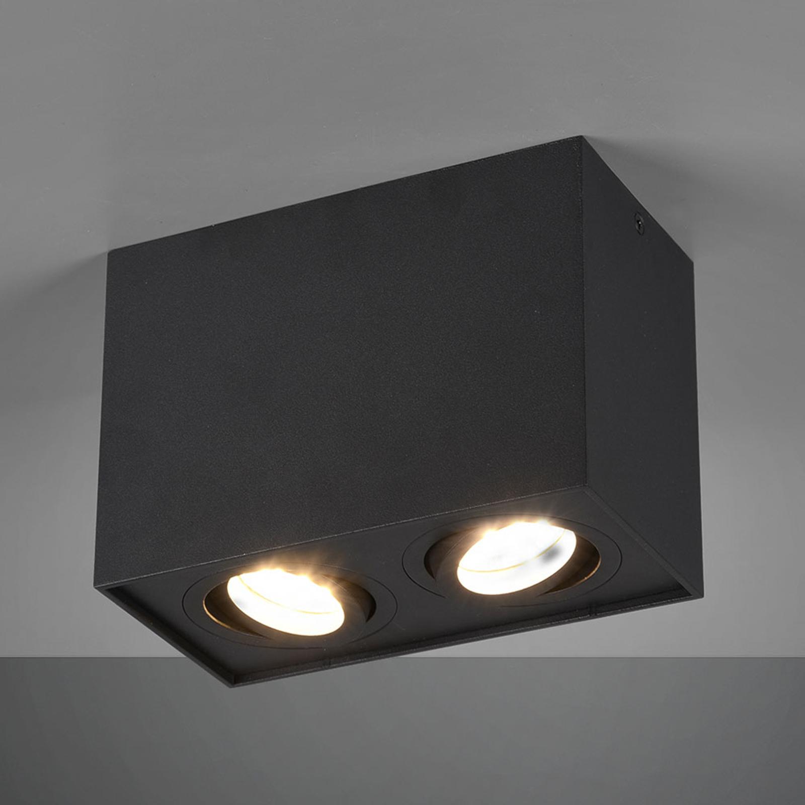 Lámpara de techo Biscuit, 2 luces, negro