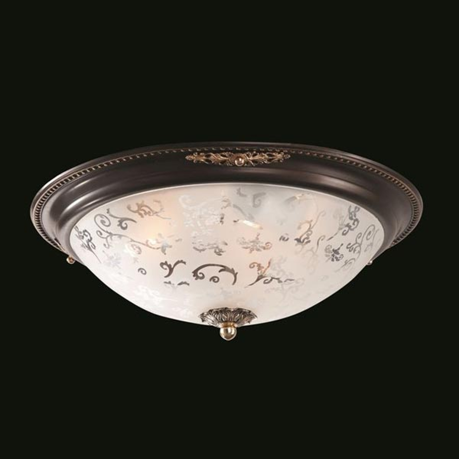 Szklana lampa sufitowa Diametrik - ciemny brąz
