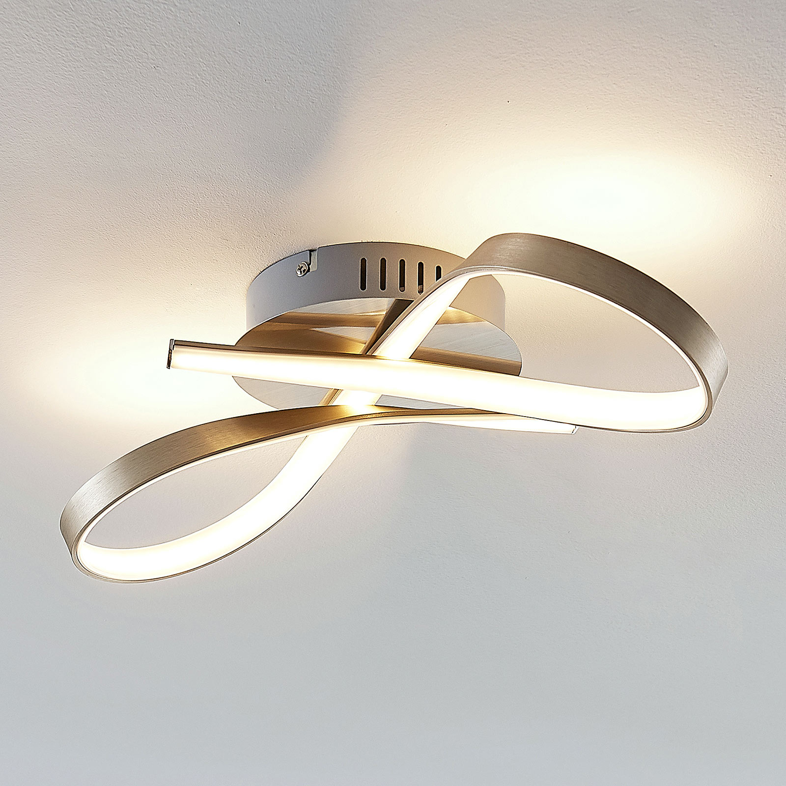 LED plafondlamp Arlana in lusvorm