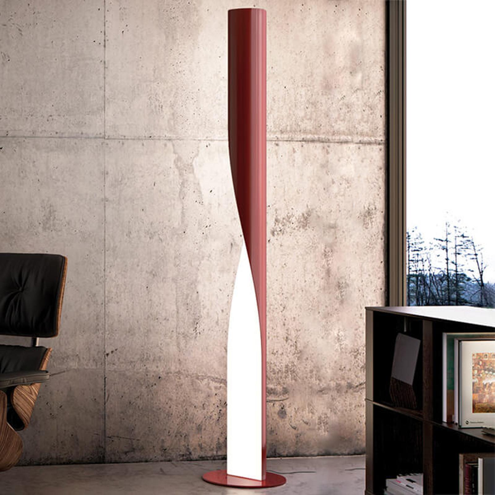 Kundalini Evita - LED vloerlamp, rood